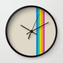 Rainbow - vintage photo Wall Clock
