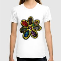 hippy T-shirts featuring Patchwork Hippy Flower by Silvio Ledbetter