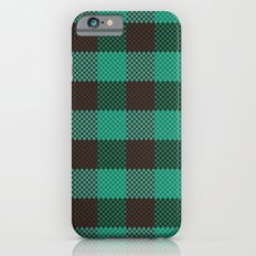 Pixel Plaid - Glacier Melt iPhone 6 Slim Case