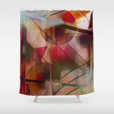 Circles Lines and Curves Shower Curtain