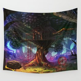 Tree house Wall Tapestry