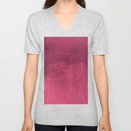 Abstract burgundy red gradient wall texture pattern Unisex V-Neck