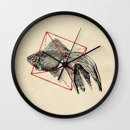 Fish In Geometrics III Wall Clock
