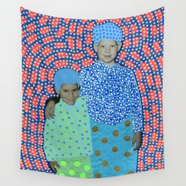 Blue Minty Friendship Wall Tapestry