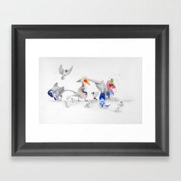 #BirdsAreDinosaurs Framed Art Print