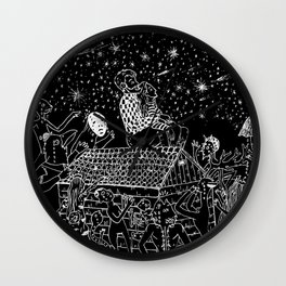 Not now, Creepy Creatures! Wall Clock