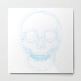 Skull (fine line multiples) Metal Print
