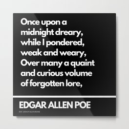 92 Edgar Allen Poe Quotes   201012  Existentialism Nihilism Existentialist Philosophy Writer Raven L Metal Print