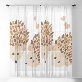 Hedgehogs Sheer Curtain