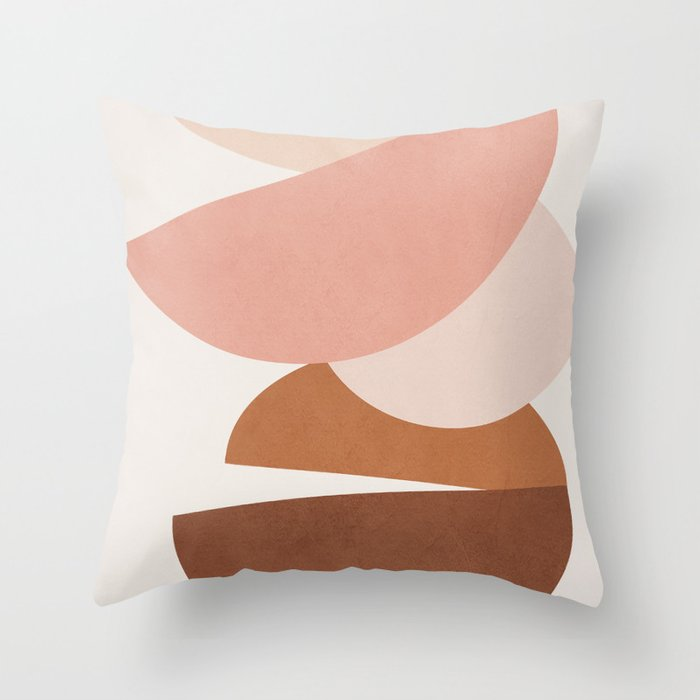 Abstract Stack II Throw Pillow