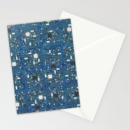Blue tech Stationery Cards