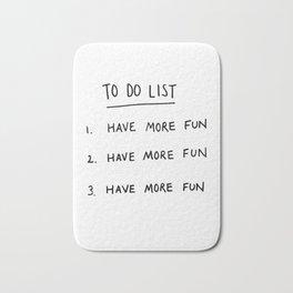To Do List Bath Mat