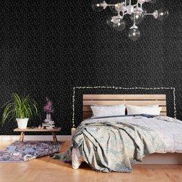 Cactus Silhouette White And Black Wallpaper