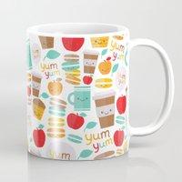 macaroon Mugs featuring yum yum by Anna Alekseeva kostolom3000