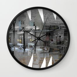 As incisions, or claws scraping, teeth digging in. [C] Wall Clock