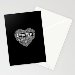 Optometrist  - Heart Stationery Cards