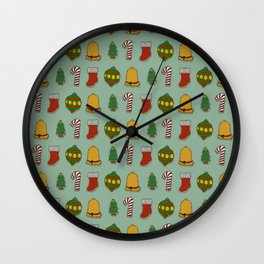 Christmas Cookies (Green) Wall Clock
