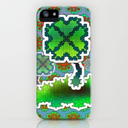 Clover Field iPhone Case