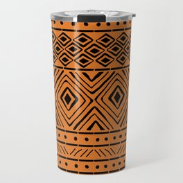 African Mud Cloth // Orange Travel Mug