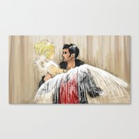 captain swan Canvas Prints featuring Captain Swan dream by ChiaraG27