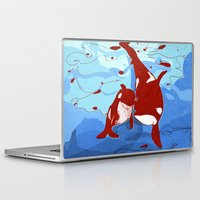 killer whale Laptop & iPad Skins featuring killer whale by Elettra