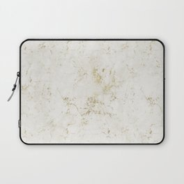 White & Gold Marble Laptop Sleeve
