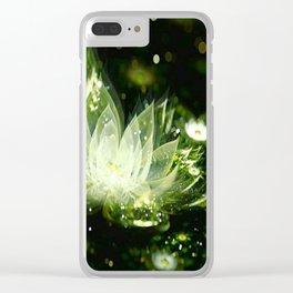 3D Lotus Flower Clear iPhone Case