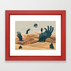 The wanderer and the desert portals Framed Art Print