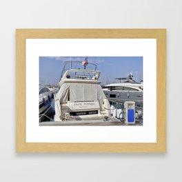 Prestige 550 Powerboat Framed Art Print