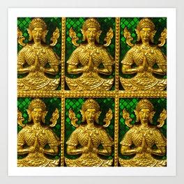 praying budda Art Print