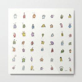 49 guys Metal Print