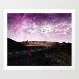 road to pink Art Print