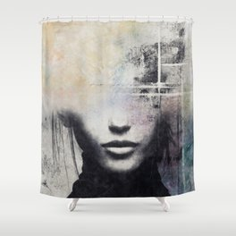 The concept of beauty... Shower Curtain