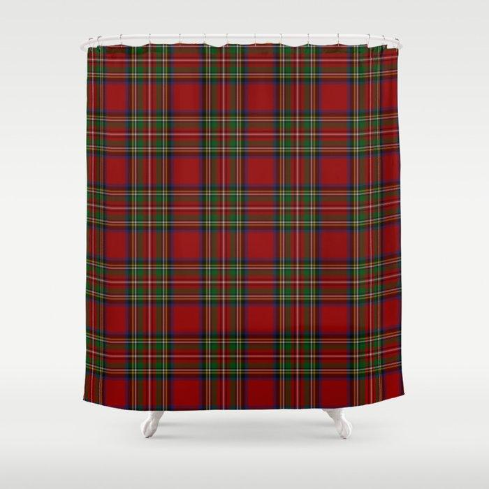 The Royal Stewart Tartan Shower Curtain