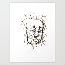 Cowardly Lion - If only Art Print