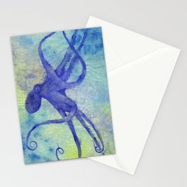 I'm So Blue Octopus Stationery Cards