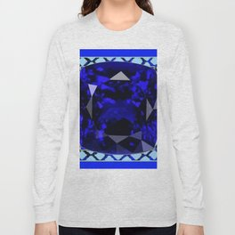 BLUE  SAPPHIRE DECEMBER GEM BIRTHSTONE MODERN ART Long Sleeve T-shirt