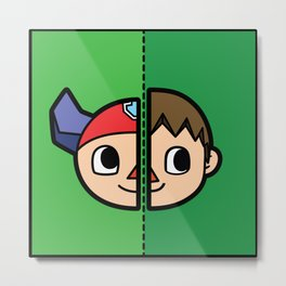 Old & New Animal Crossing Villager Comparison Metal Print