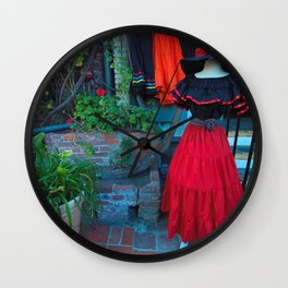 Olvera Street Los Angeles Wall Clock