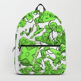 Vintage Gamer Green Backpack