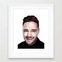 liam payne Framed Art Prints featuring Liam Payne - One Direction by jrrrdan