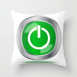 Engine Start Button Throw Pillow