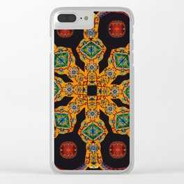 Gold Mandala Black Clear iPhone Case