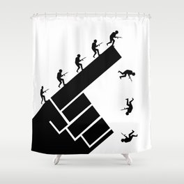 To the arms! Shower Curtain