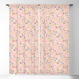 Baking Gingerbread - Retro Pink Blackout Curtain