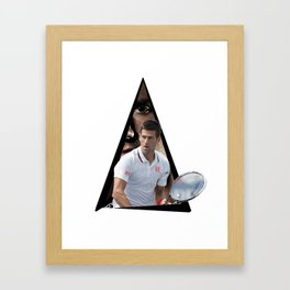Youtriangle ∆ Novak Djokovic Framed Art Print