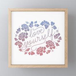 Love yourself color Framed Mini Art Print