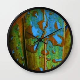 Tropical Raindrops Wall Clock
