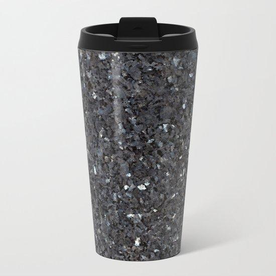 Labrador Emerald Pearl Granite Metal Travel Mug