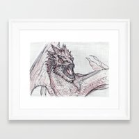 smaug Framed Art Prints featuring Smaug by jamestomgray